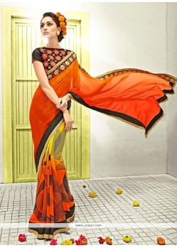 Innovative Lace Work Multi Colour Designer Saree