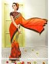 Innovative Lace Work Multi Colour Designer Saree
