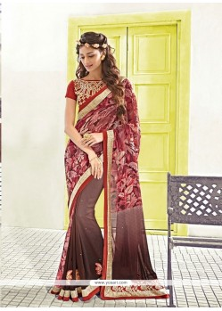 Charming Patch Border Work Designer Saree