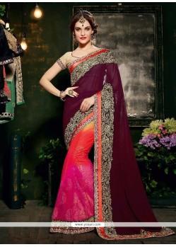 Staring Multi Colour Designer Saree