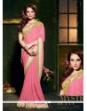 Amazing Embroidered Work Faux Chiffon Designer Saree