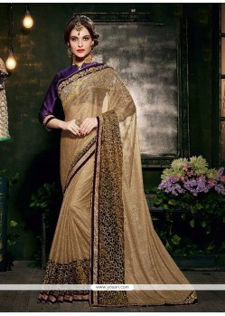 Energetic Lycra Embroidered Work Designer Saree