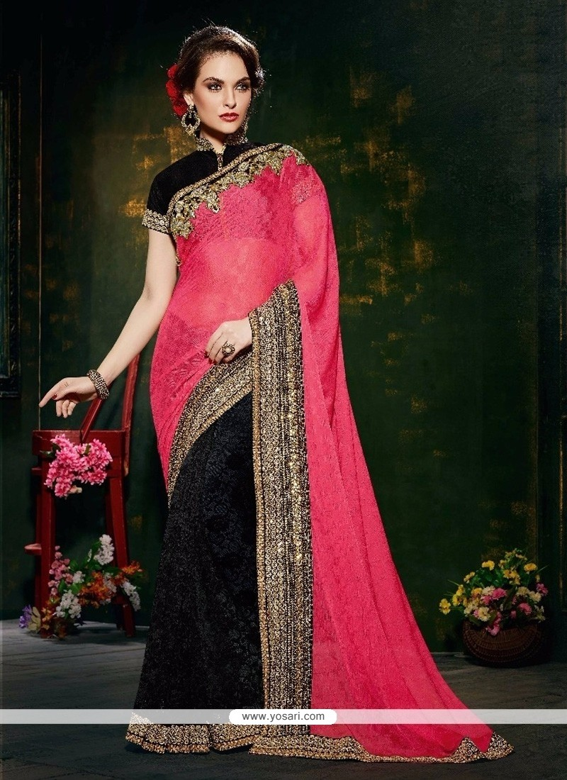 Fetching Patch Border Work Designer Saree