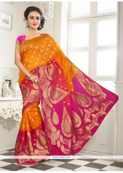 Sunshine Lace Work Designer Saree