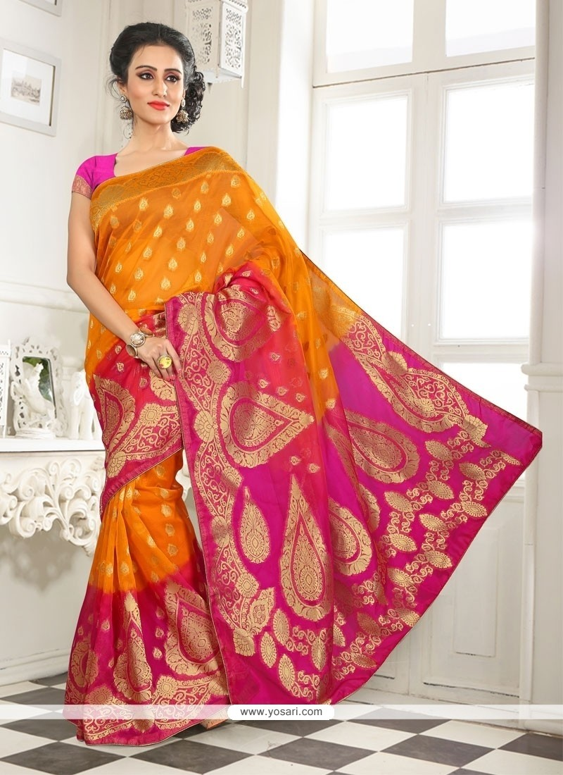 Sunshine Lace Work Designer Saree