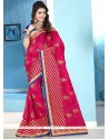 Stunning Georgette Lace Work Designer Saree