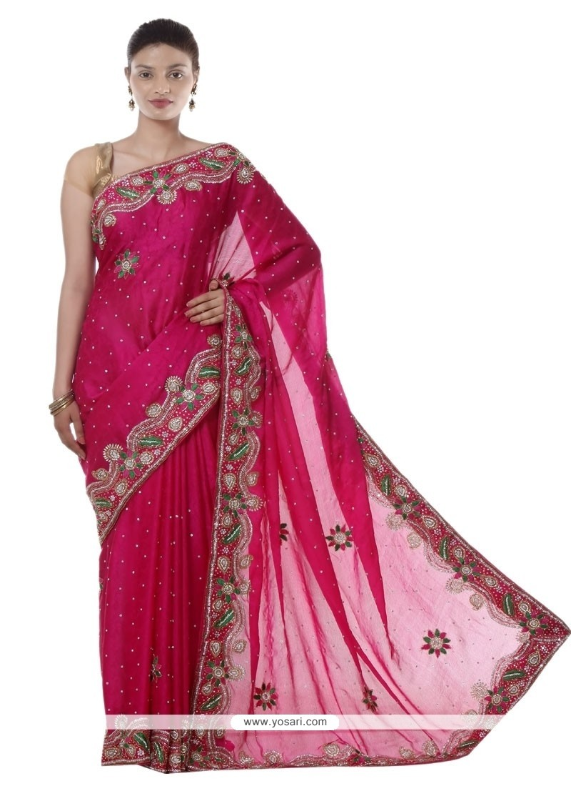 Majestic Jacquard Magenta Designer Saree