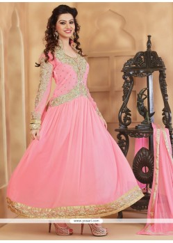 Desirable Pink Anarkali Suit