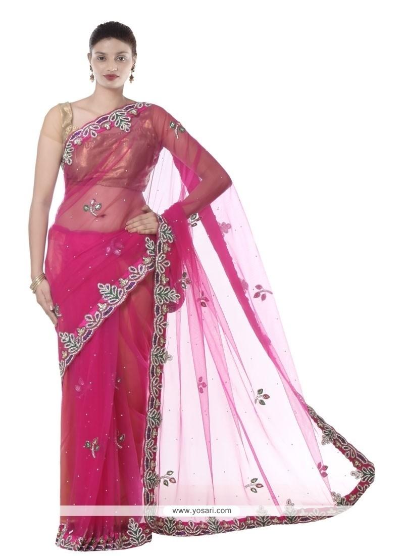 Piquant Magenta Designer Saree