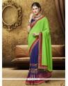 Noble Sea Green Georgette Designer Saree