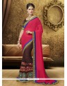 Lively Georgette Hot Pink Designer Saree