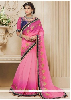 Alluring Embroidered Work Designer Saree