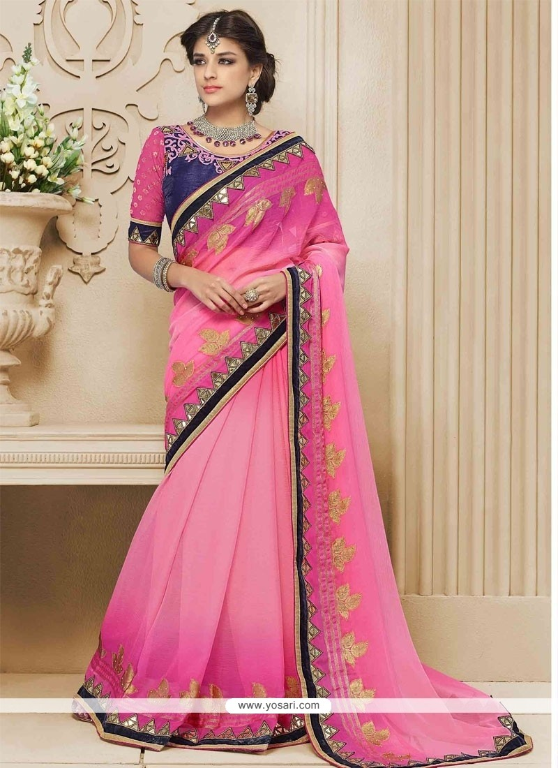 Alluring Embroidered Work Designer Saree