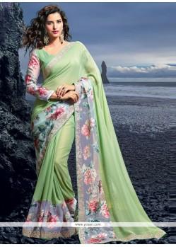 Outstanding Resham Work Georgette Designer Saree