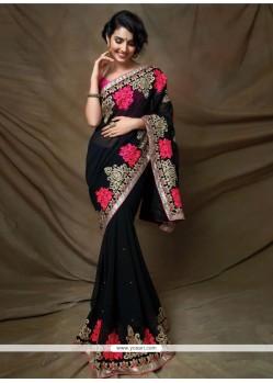 Gleaming Lace Work Designer Saree