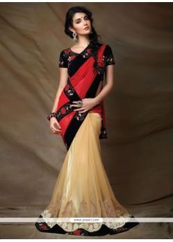 Fine Resham Work Georgette Designer Saree