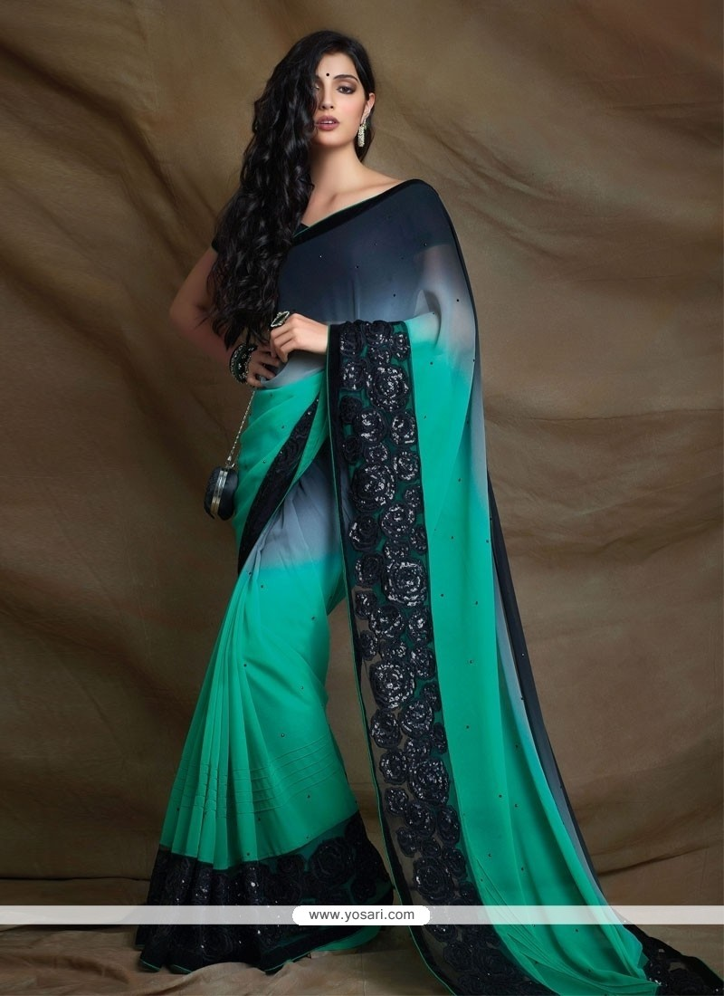 Simplistic Lace Work Designer Saree
