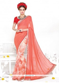 Mesmeric Print Work Casual Saree