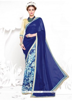 Irresistible Georgette Blue Casual Saree