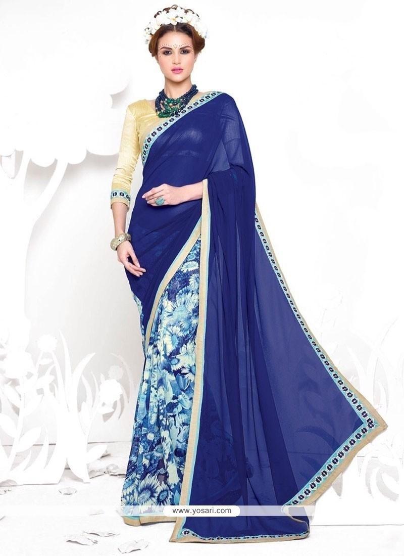 Irresistible Georgette Blue Casual Saree