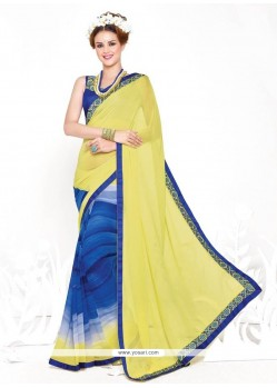 Invaluable Yellow Casual Saree