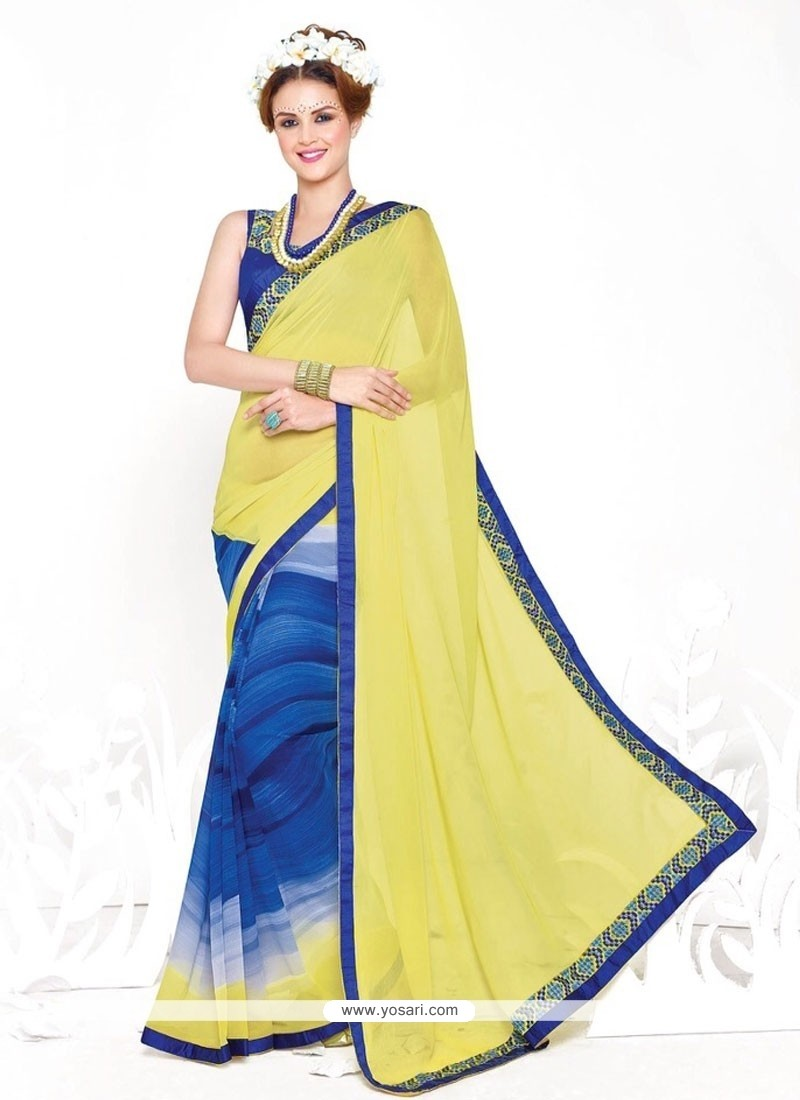 Invaluable Yellow Casual Saree