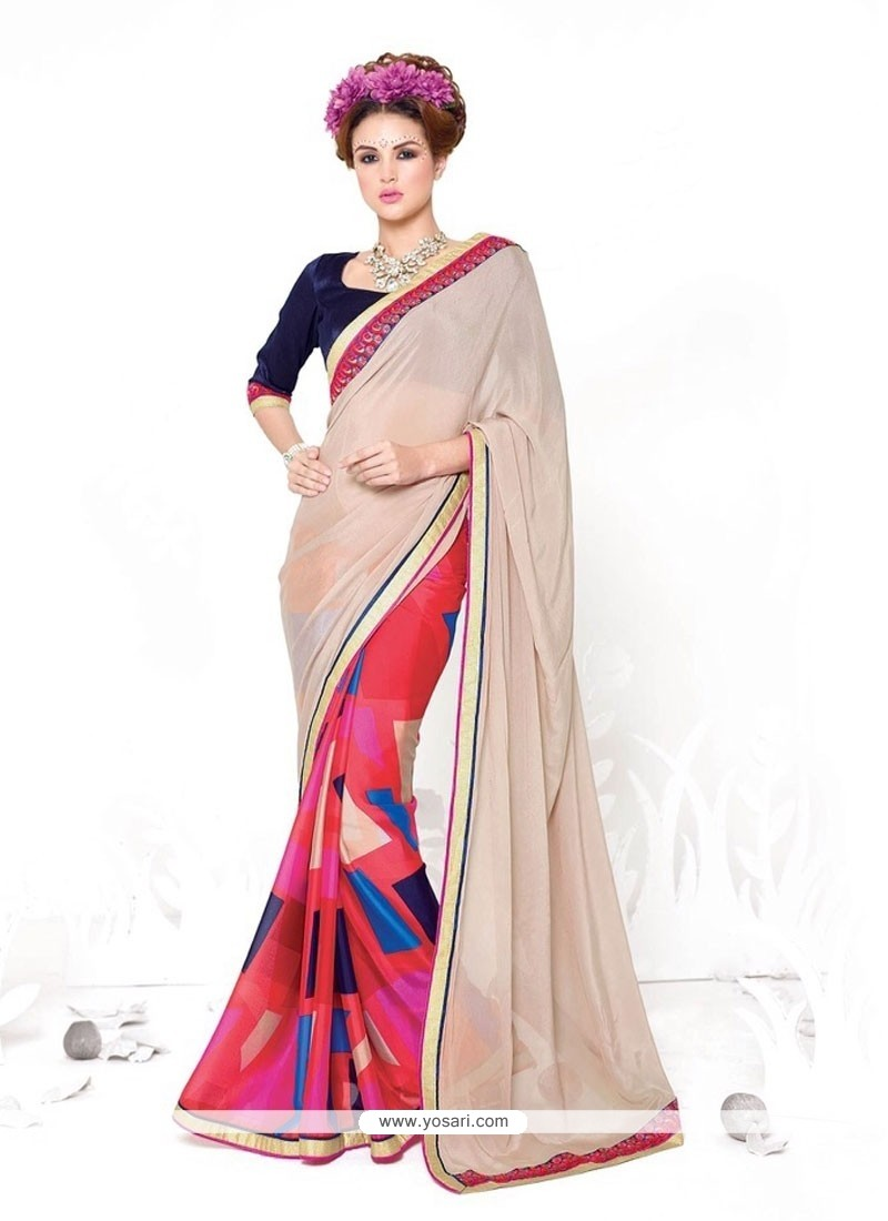 Orphic Print Work Casual Saree