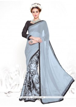 Amazing Print Work Casual Saree