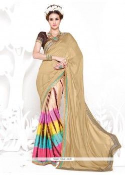 Fine Print Work Crepe Silk Casual Saree