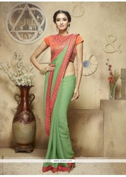 Dashing Jacquard Resham Work Designer Saree
