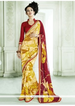 Tantalizing Mustard Casual Saree