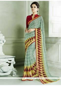 Aristocratic Brasso Casual Saree