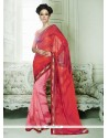 Renowned Red Georgette Casual Saree