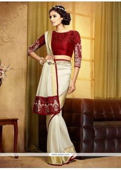 Charismatic Viscose Resham Work Designer Saree