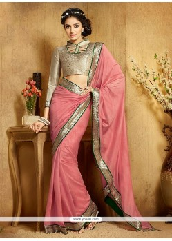 Suave Hot Pink Designer Saree