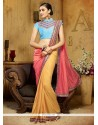Absorbing Patch Border Work Viscose Designer Saree
