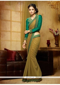 Sunshine Green Designer Saree
