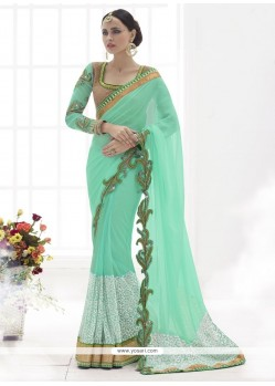 Riveting Designer Saree For Ceremonial
