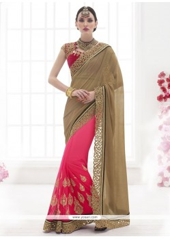 Aspiring Patch Border Work Designer Saree