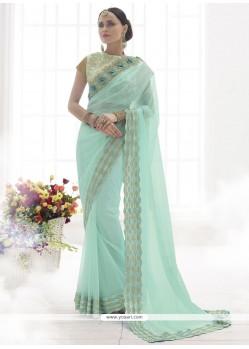 Sonorous Satin Resham Work Designer Saree