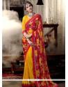 Glitzy Print Work Multi Colour Casual Saree