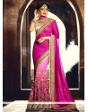 Vibrant Hot Pink Designer Saree