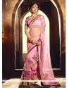 Capricious Pink Designer Saree
