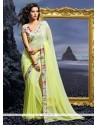Intriguing Green Designer Saree