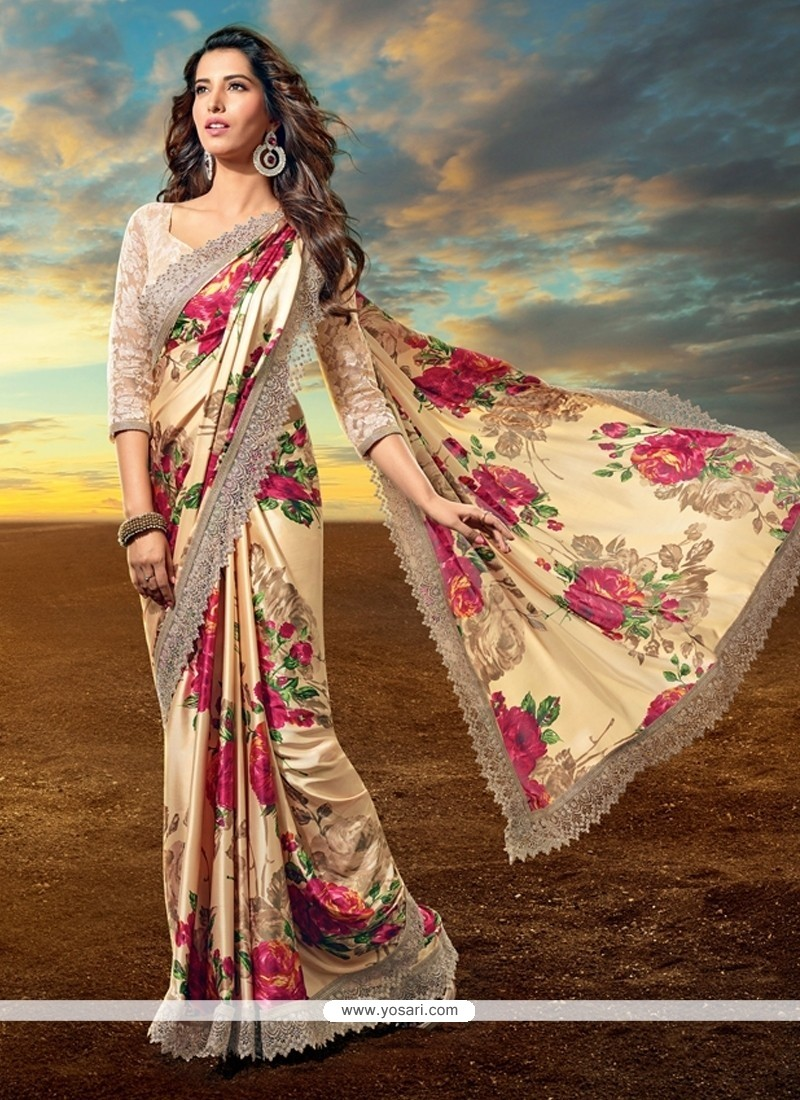 Beauteous Satin Multi Colour Designer Saree