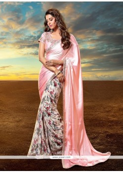 Spectacular Patch Border Work Designer Saree