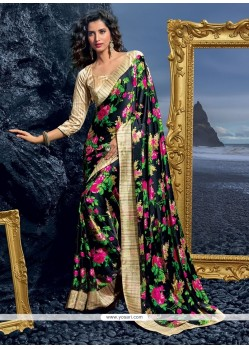 Incredible Print Work Designer Saree
