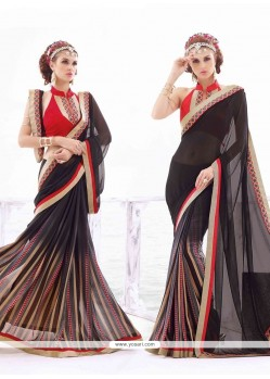 Radiant Georgette Lace Work Casual Saree