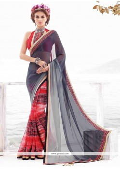 Exciting Georgette Multi Colour Casual Saree