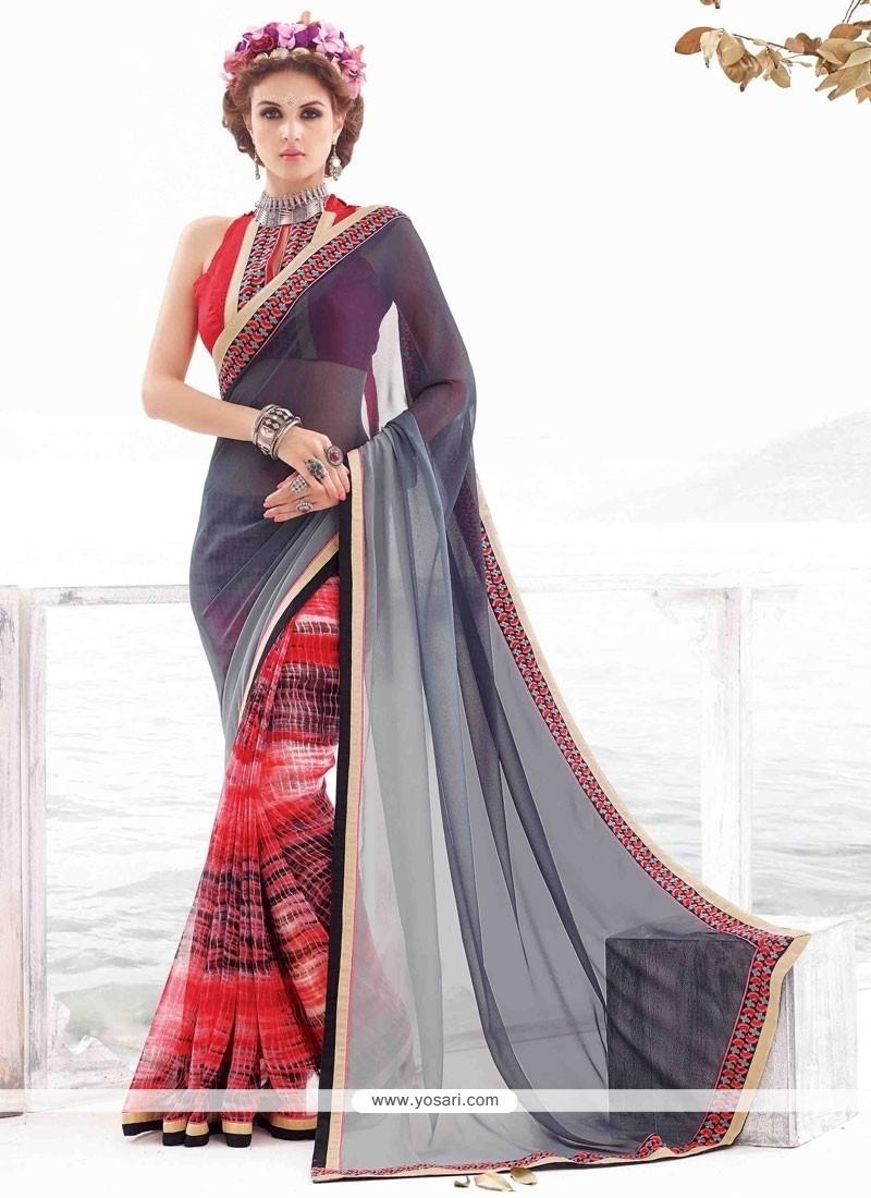 Exciting Georgette Multi Colour Casual Saree